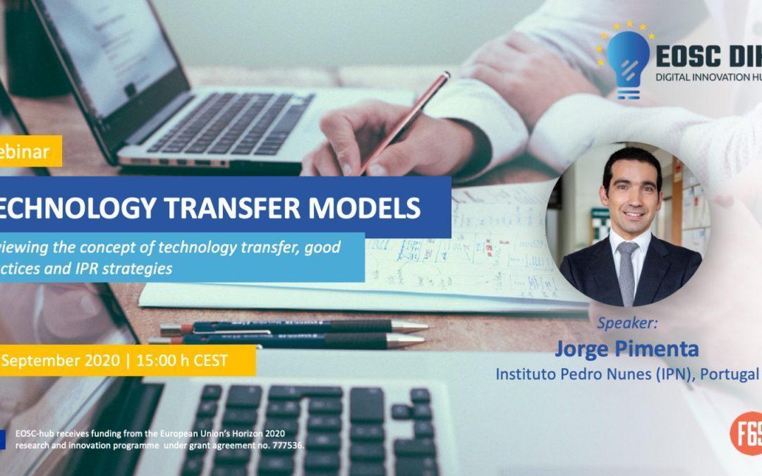 Technology transfer models webinar